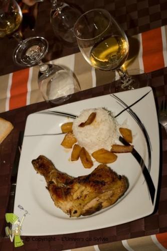 Poulet aux poires-coco