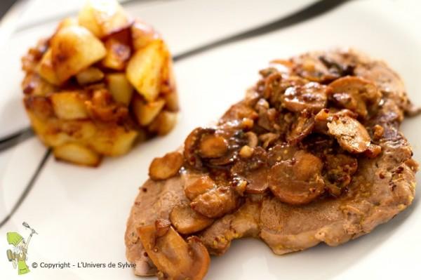 Côtes de porc aux champignons