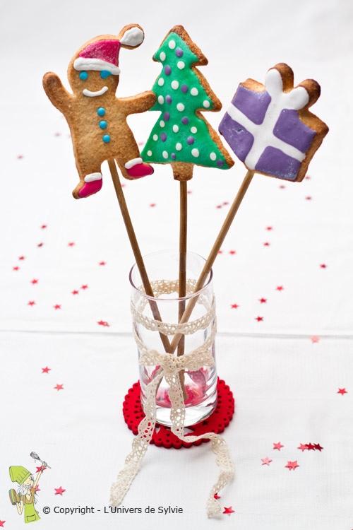 Sucettes biscuits de Noël à la cannelle