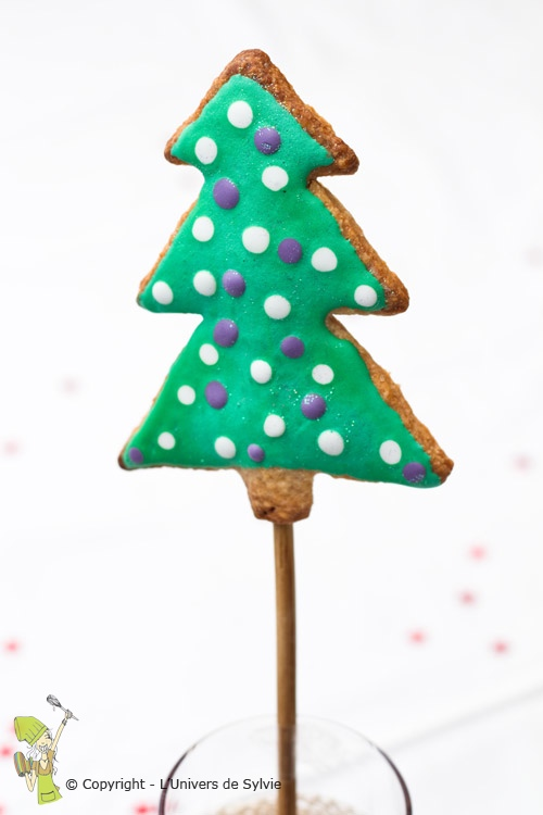 Sucette biscuit sapin de Noël