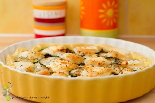 Tarte courgettes, tomates et fromage de chèvre