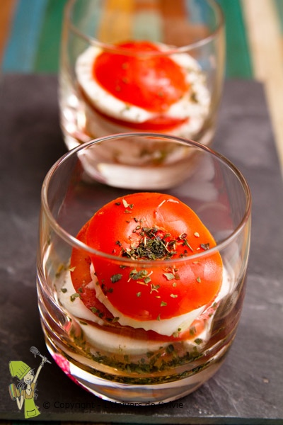 Verrine tomate mozzarella