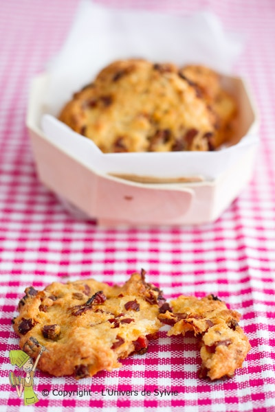 Cookies chorizo tomate séchés