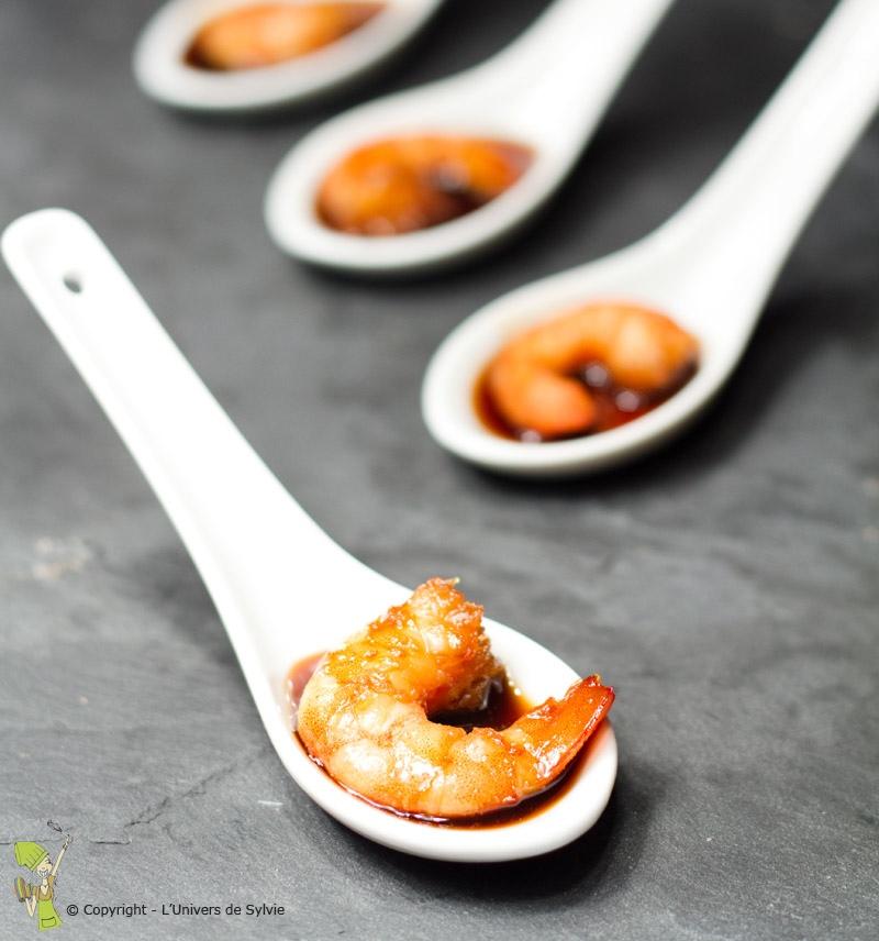 Crevettes soja-miel