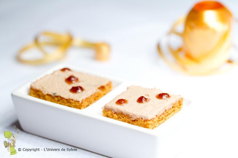 Canapés de pain d'épices au foie gras