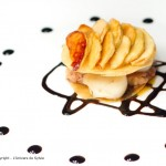 Mille feuille de foie gras aux saint Jacques