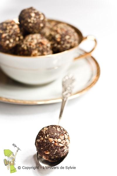 Truffes au chocolat et crème de marron