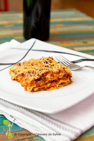 Lasagnes à la bolonaise