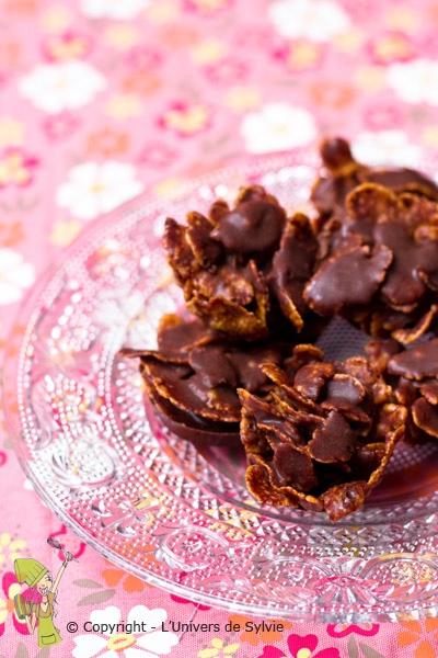 Roses des sables amandes chocolat