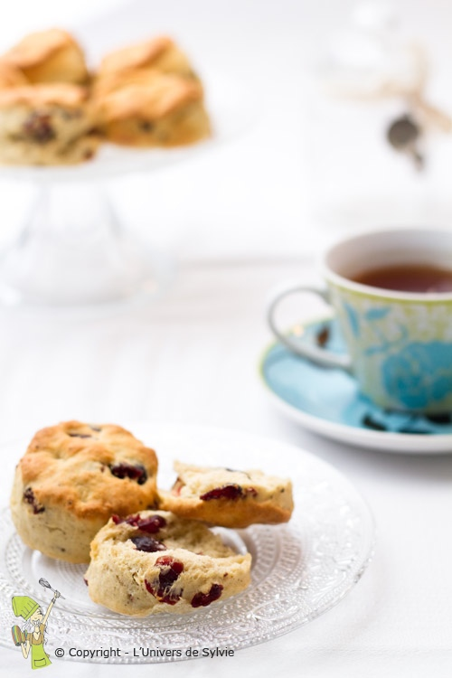 Scones aux cranberry
