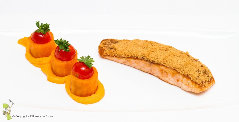 Saumon en croûte de pain d'épices