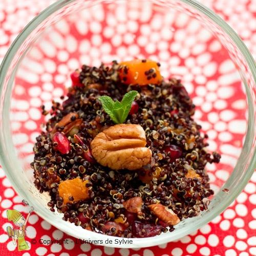 Salade de Quinoa noir d'Hiver