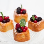 Financier au gingembre et fruits rouges