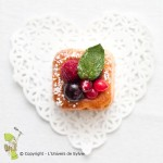 Financiers au gingembre et fruits rouges