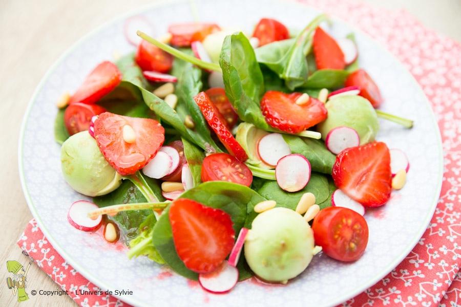 Salade d'épinards fraiche