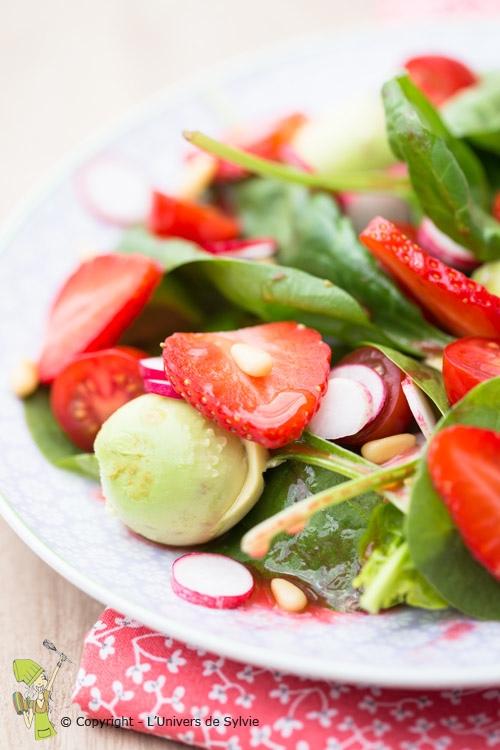 Salade fraîche d'épinards