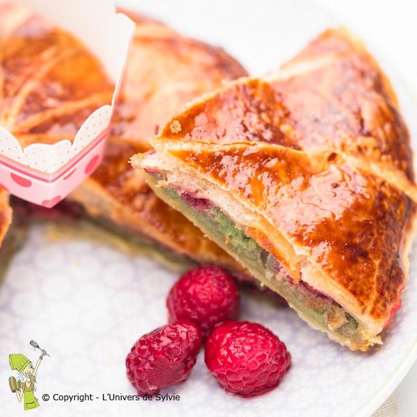 Galette pistache-framboises