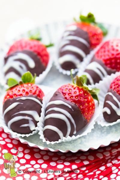 Fraises au chocolat