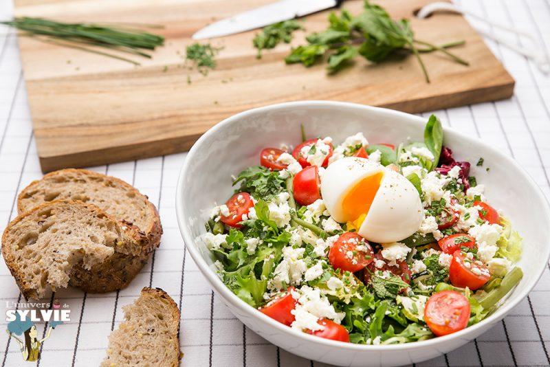 Salade gourmande aux légumes vert