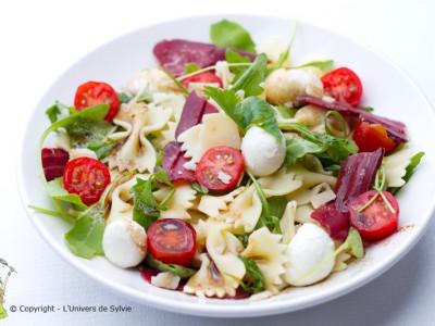 Salade de pâtes magret fumé – mozzarella