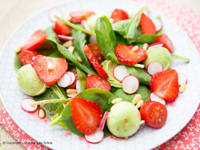 Salade fraîche d'épinard