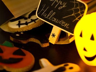 Biscuits d'halloween à la farine de châtaigne