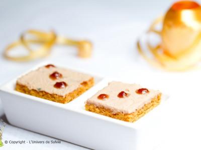 Canapés de foie gras et pain d'épices