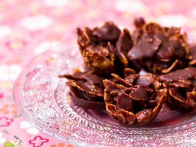 Roses des sables au chocolat et aux amandes