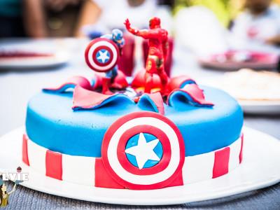Gâteau super héros!